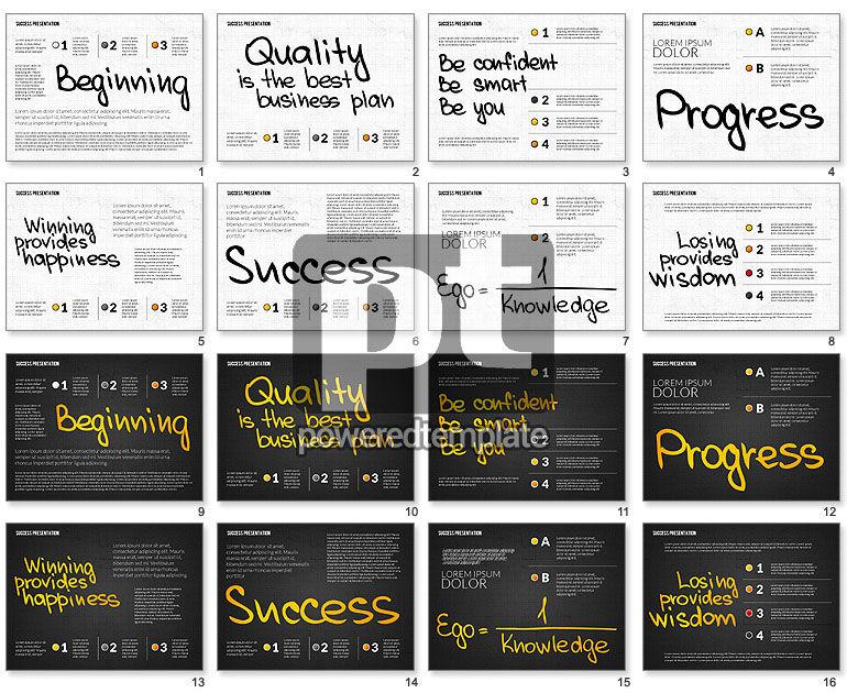 Achieving Success Presentation Concept