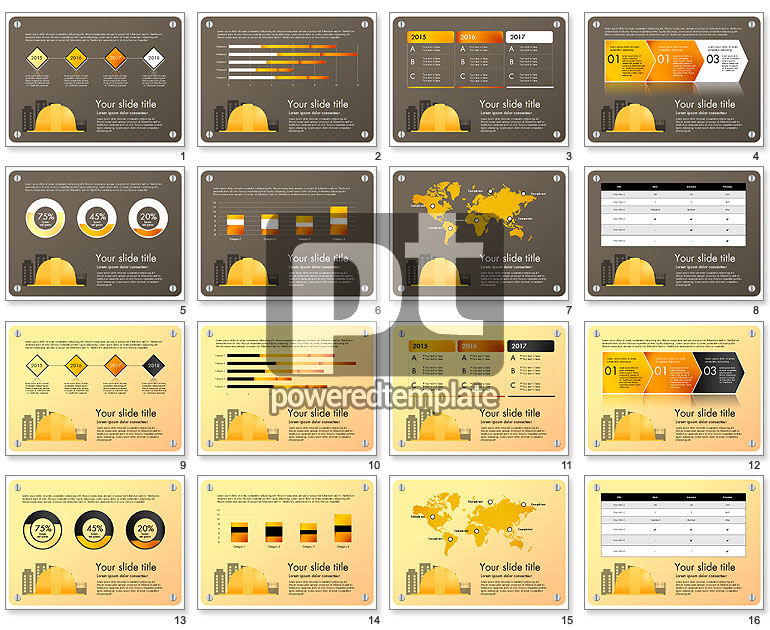 Construction Infographics Presentation Template