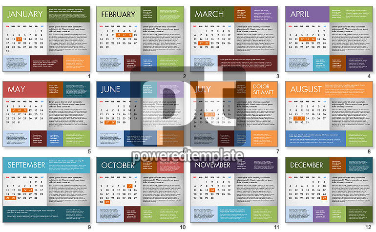 2016 Calendar for PowerPoint