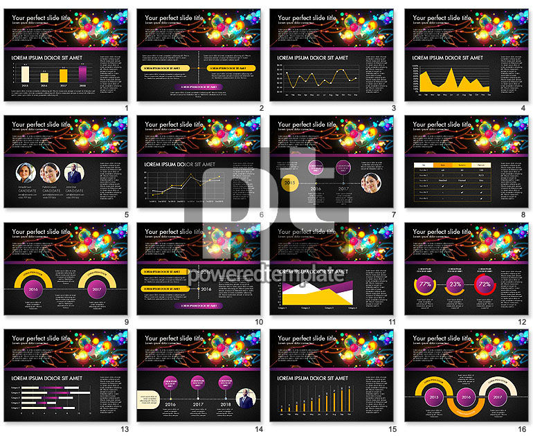 Data Driven Entertainment Presentation Template