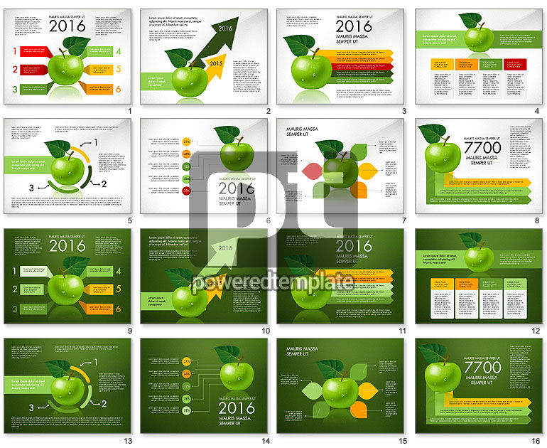 Green Apple Infographics
