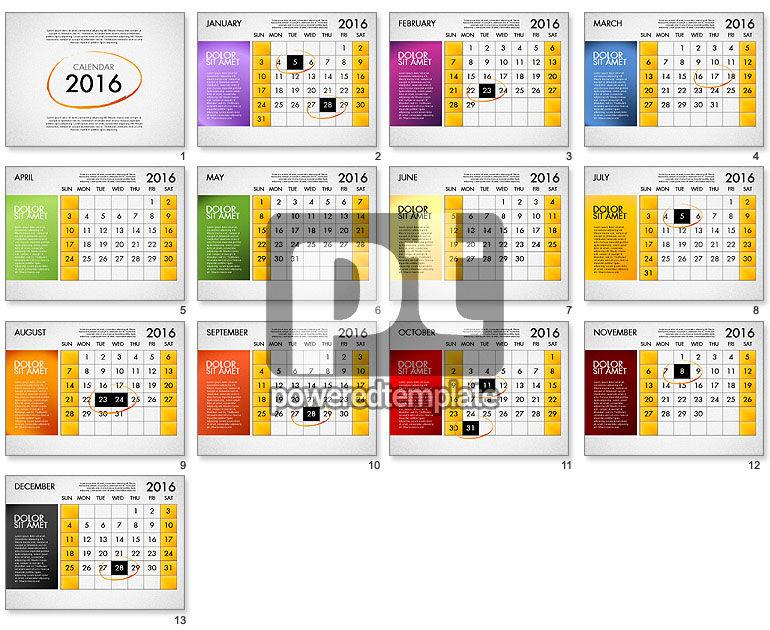 Planning Calendar 2016