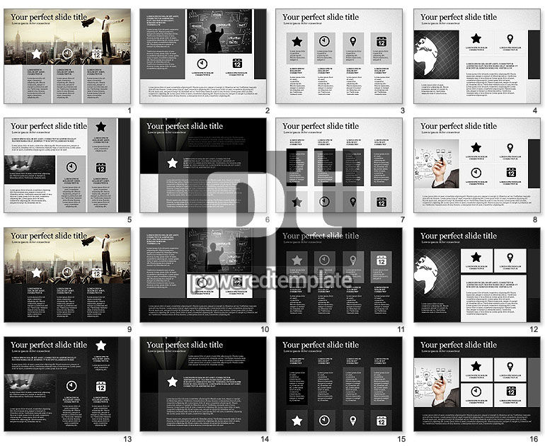Gray Business Presentation Template