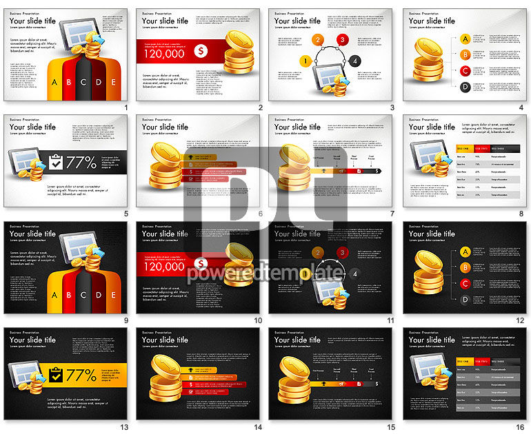Financial Brief Infographics Deck