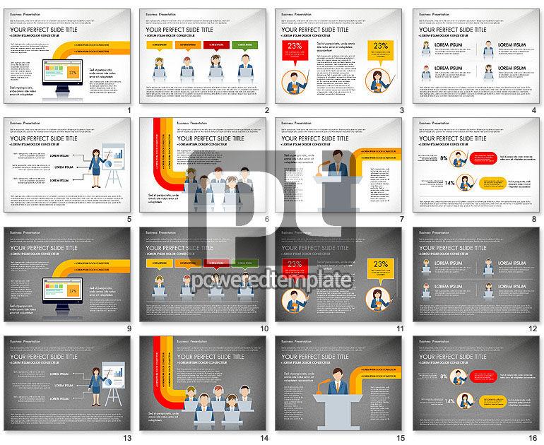 Online Course Presentation Concept