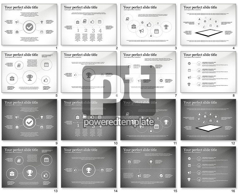 Icons Process and Timeline Toolbox