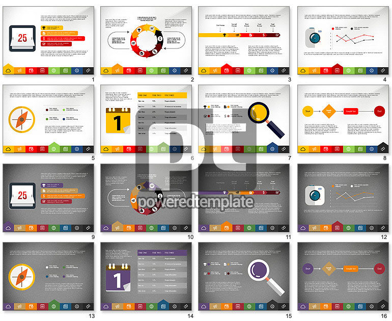 creative presentation template with tabs for powerpoint