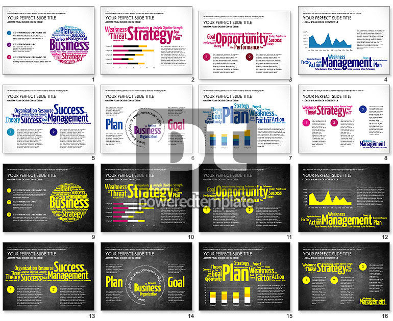 Business Word Cloud Presentation Template
