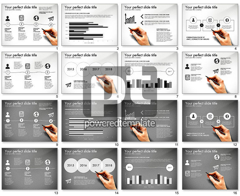 Thin and Gray Presentation Template