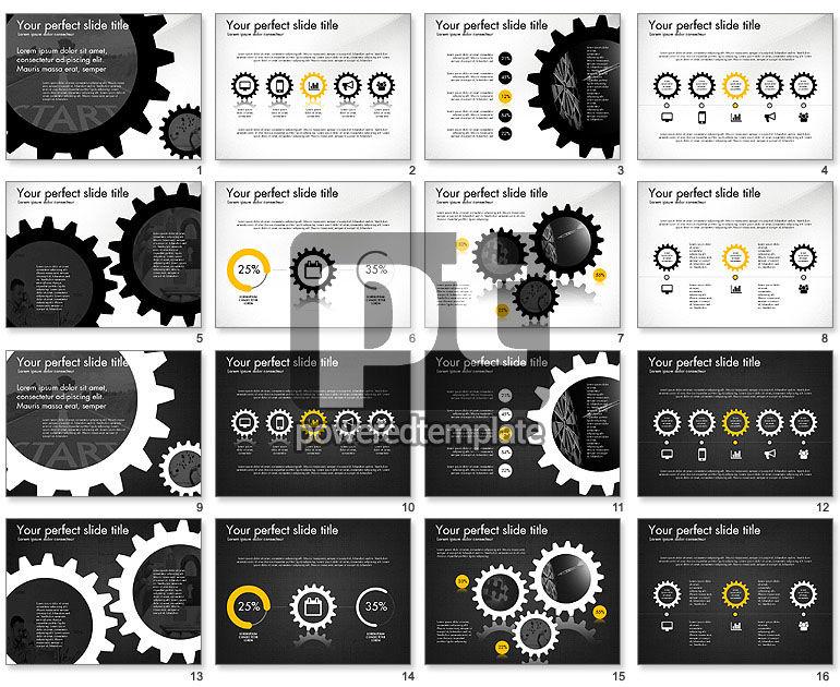 Cogwheel Gears Presentation Concept