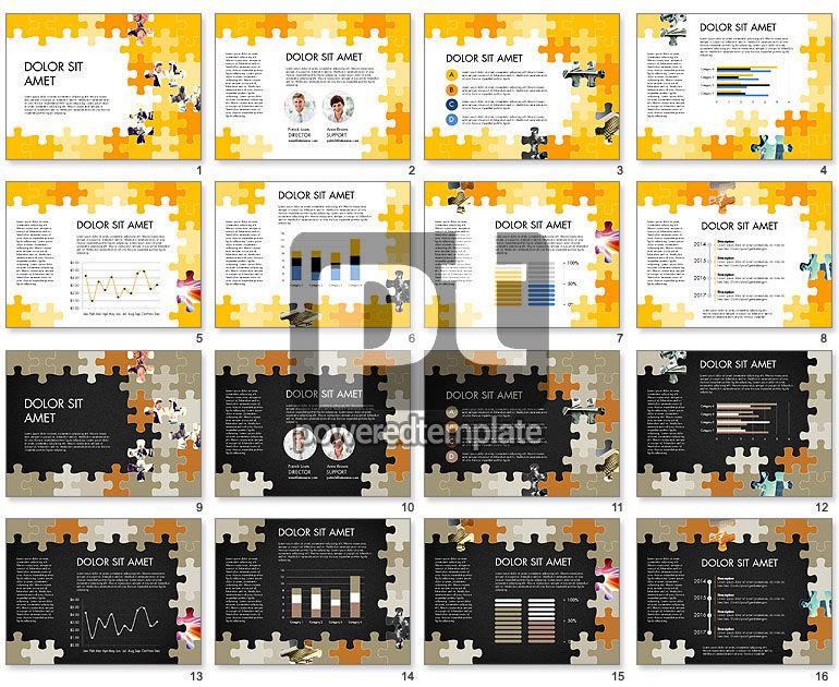 Yellow Puzzle Frame Presentation Concept