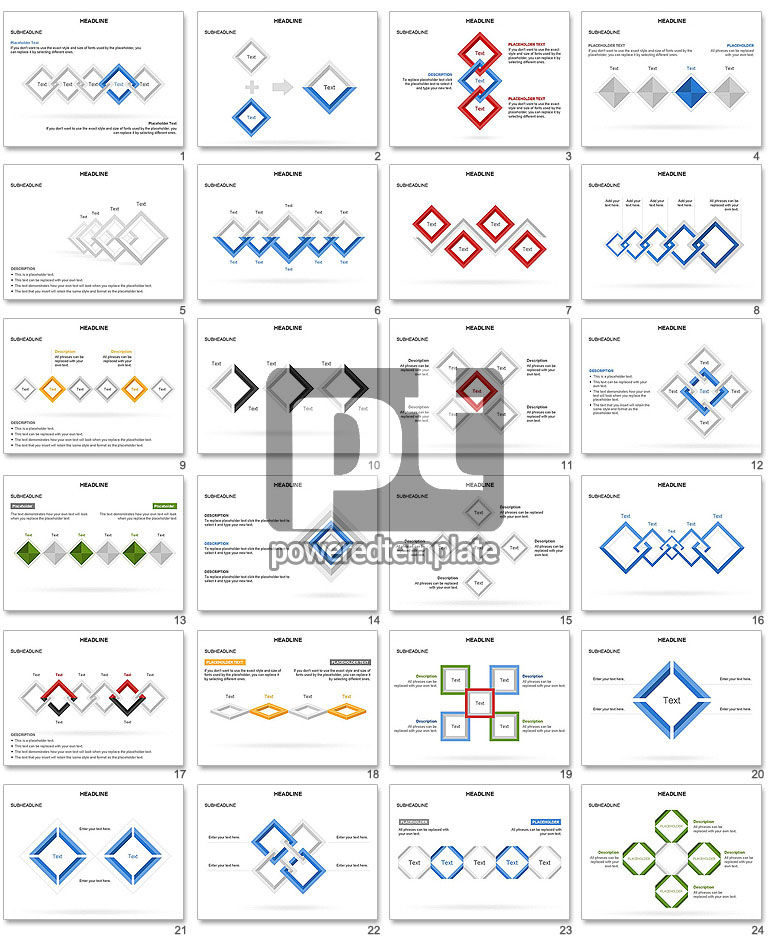 Rhombus Diagram Collection