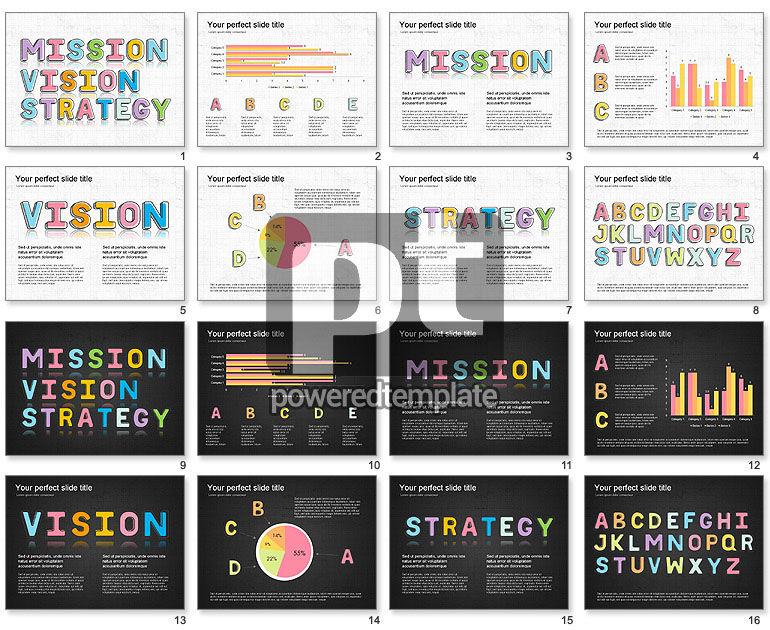 Colored Letters Presentation Idea