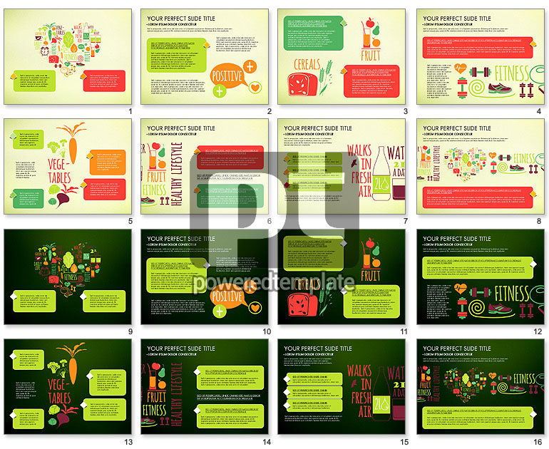 Healthy Lifestyle Presentation Template