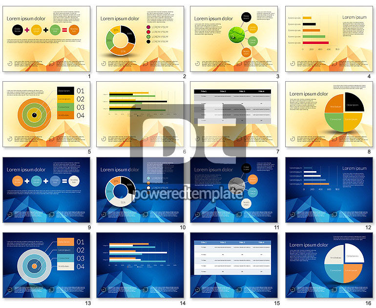 Data Driven Presentation Template with Abstract Background