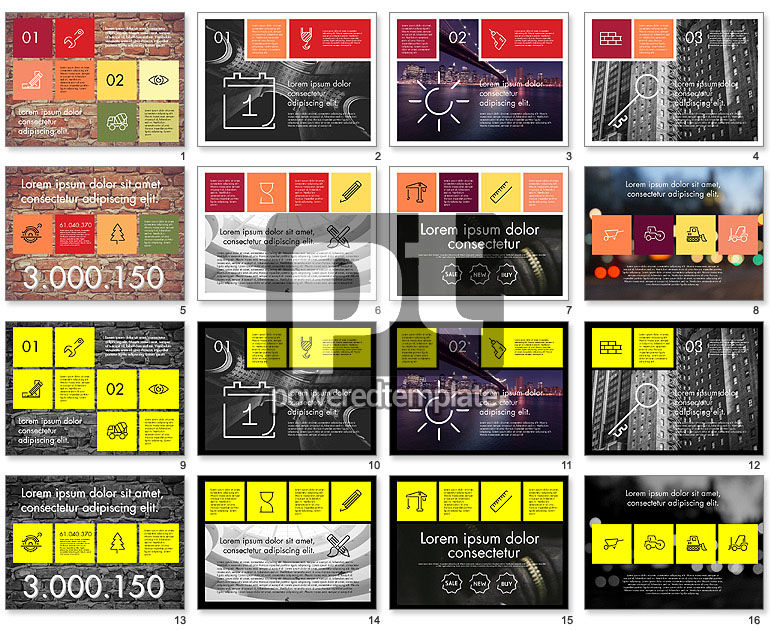 Grid Layout Flat Presentation Template