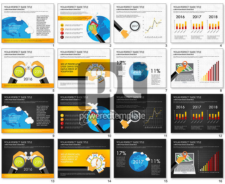 Business Infographics with Charts