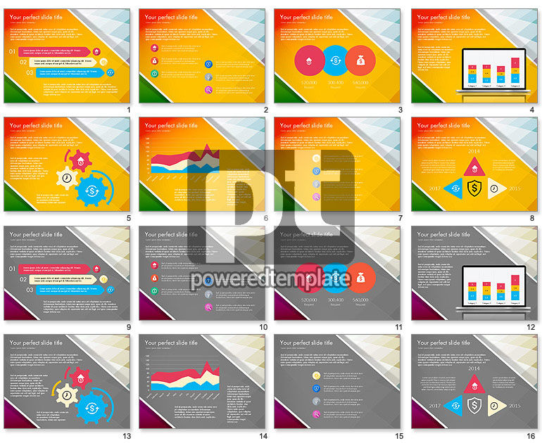 Flat Designed Report Presentation Deck