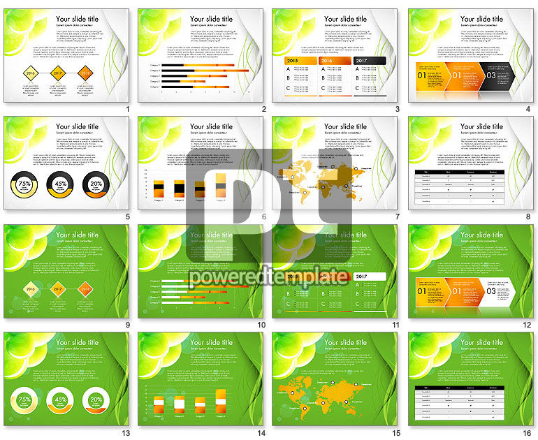 Presentation in Green Colors