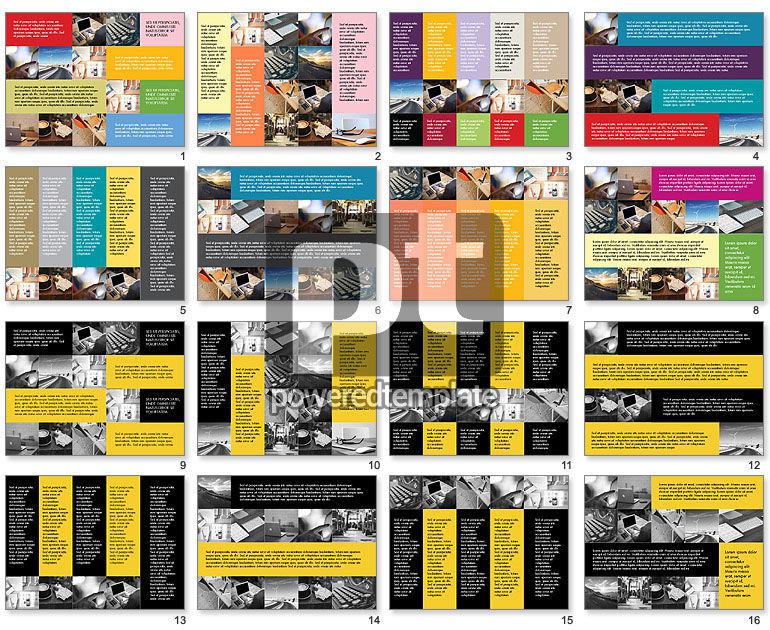 Grid Layout Flat Designed Presentation Template