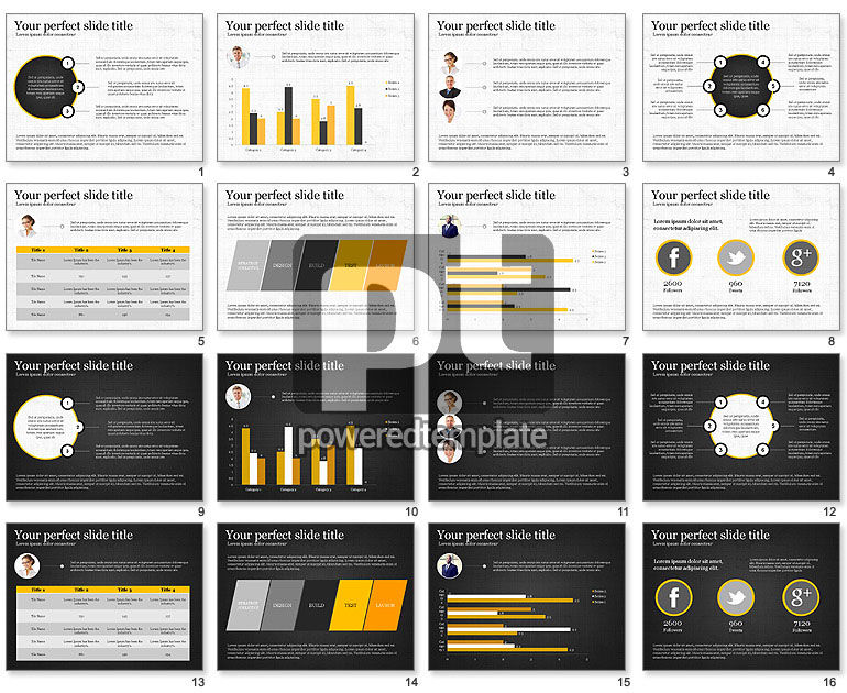 Flat Designed Report Template