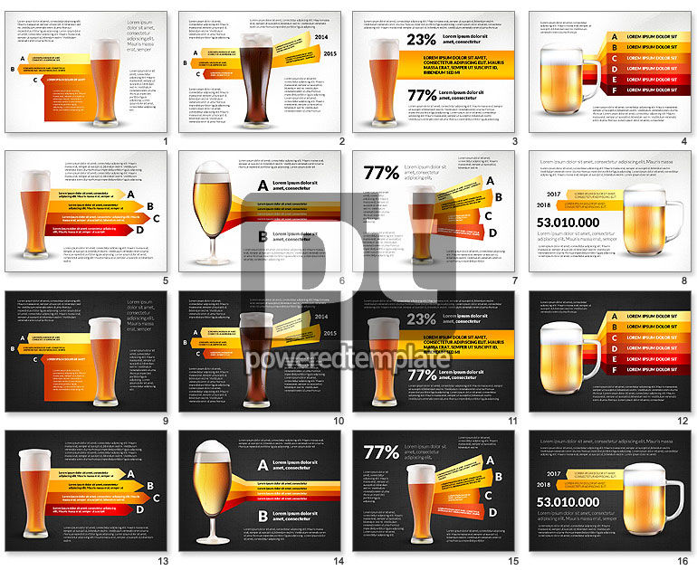 Beer Infographics Presentation Deck