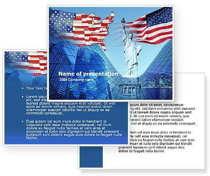 american flag background powerpoint. American PowerPoint Template