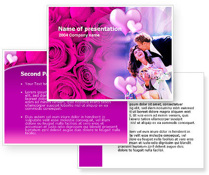 Wedding Anniversary PowerPoint Template, Wedding Anniversary Background for