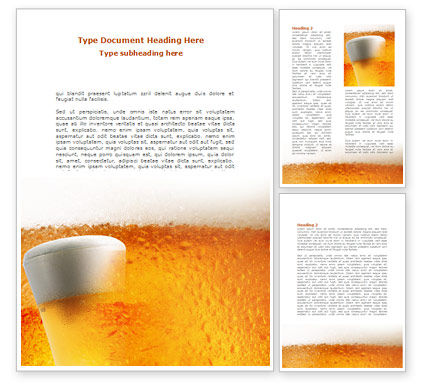 Beer Tumbler Word Template, 00750, Food & Beverage — PoweredTemplate.com