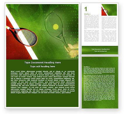 Tennis Rackets Word Template, 00807, Sports — PoweredTemplate.com