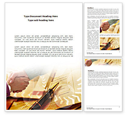 Signing Agreement Word Template, 00925, Business — PoweredTemplate.com