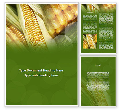 Maize Word Template, 00973, Agriculture and Animals — PoweredTemplate.com
