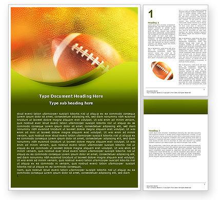 Ball Lacing Word Template, 01254, Sports — PoweredTemplate.com