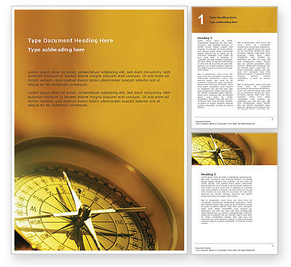 Business Concepts: Compass Word Template #01284