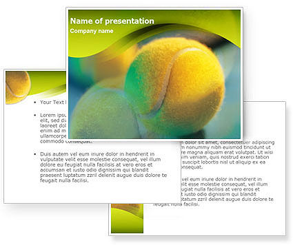 yellow background powerpoint. Yellow Tennis PowerPoint
