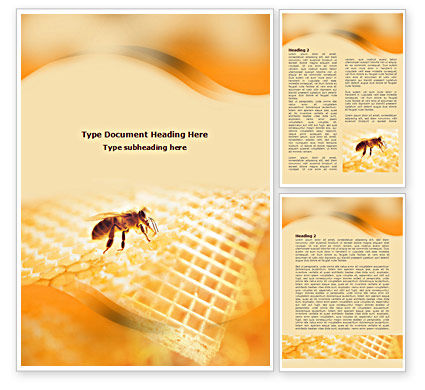 Food & Beverage: Wafers and Honey Word Template #01518