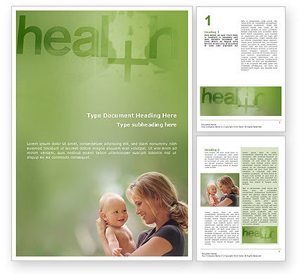 Medical: Health Word Template #01545
