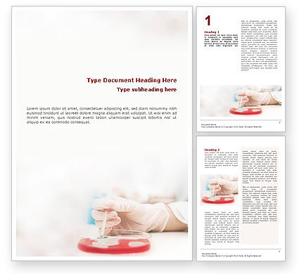 Medical: Medical Lab's Tests Word Template #01546