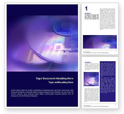 Compact Disc Storages Word Template, 01551, Technology, Science & Computers — PoweredTemplate.com