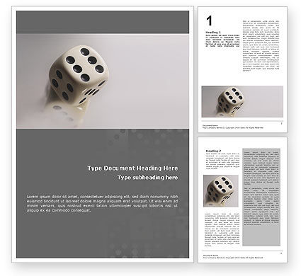 Dice Word Template, 01552, Business Concepts — PoweredTemplate.com