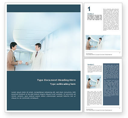 Business Relations Word Template, 01553, Business — PoweredTemplate.com