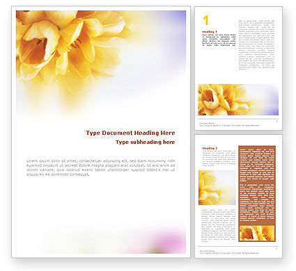 Nature & Environment: Bouquet Word Template #01557