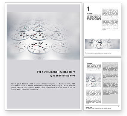 Time Checking Word Template, 01558, Business — PoweredTemplate.com