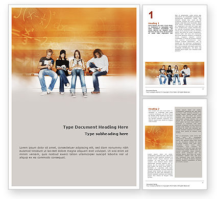 Students Who Read Word Template, 01559, Education & Training — PoweredTemplate.com