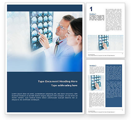Tomography Study Word Template, 01560, Medical — PoweredTemplate.com