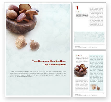 Free Mushroom Word Template, 01562, Food & Beverage — PoweredTemplate.com