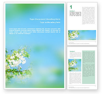Springtime Word Template, 01566, Nature & Environment — PoweredTemplate.com