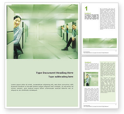 Business Concepts: Office Word Template #01577