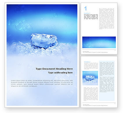 Nature & Environment: Ice Word Template #01581