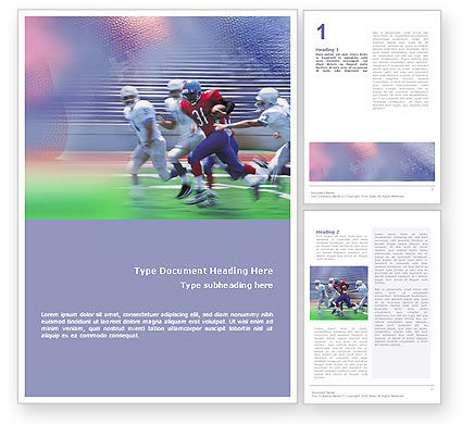 Sports: American Football Arizona Cardinals Word Template #01590